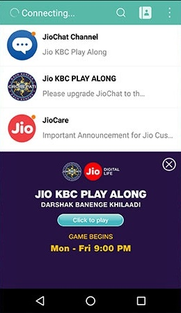 How to Play KBC on JioChat App