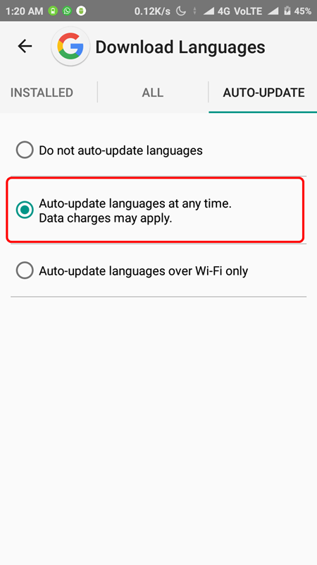 How to Remove Downloading English India Notification on Android