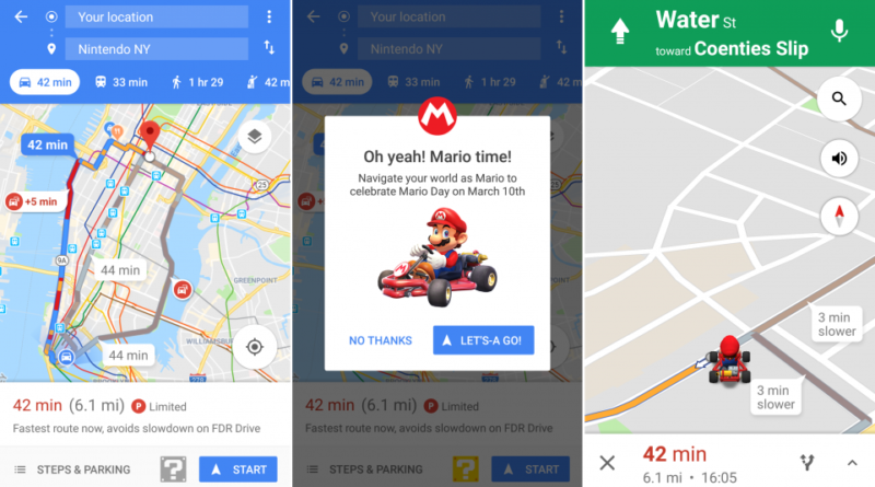 how to get mario on google maps