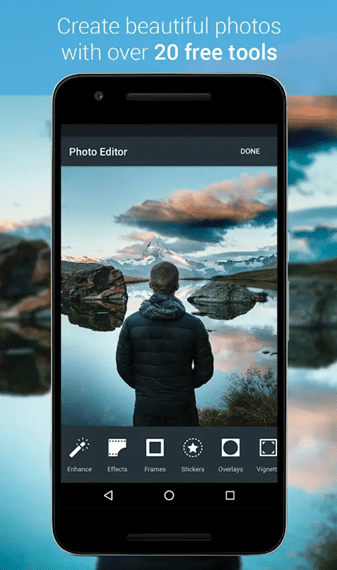 best selfie editing apps for android aviary