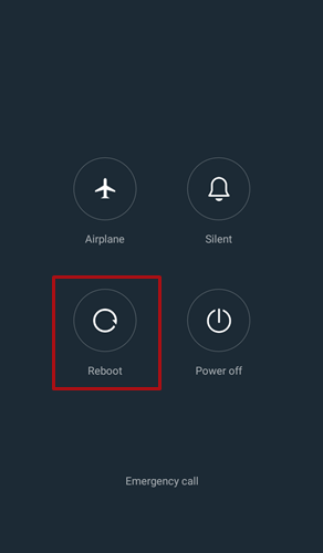 Android Power menu