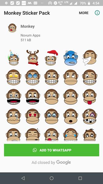 monkey stickers for whatsapp