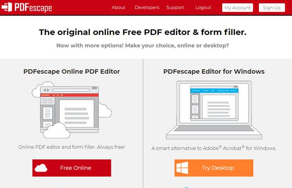 free online pdf editor pdf escape
