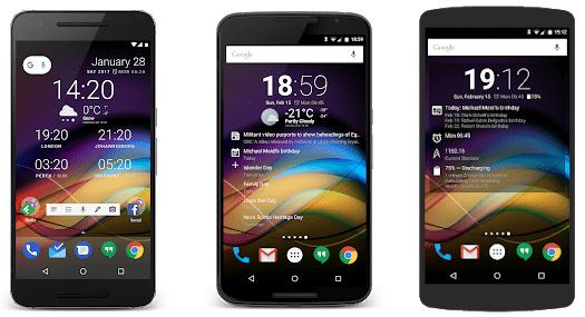 chronus best clock widgets for android