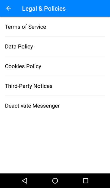 Deactivate Messenger 3