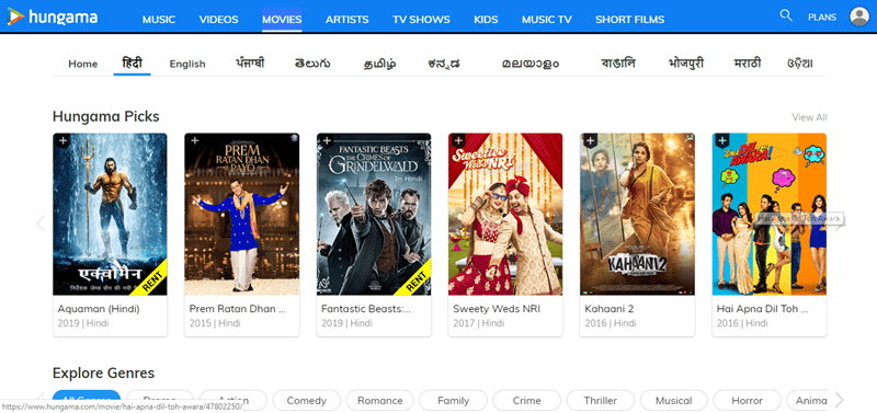 Websites to Watch Hindi Movies Online Free