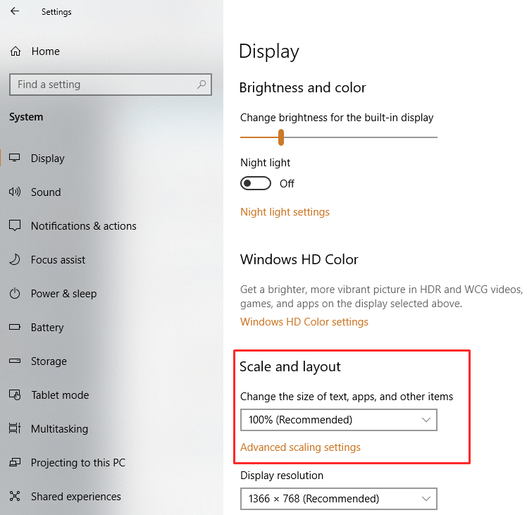 decrease size with one setting