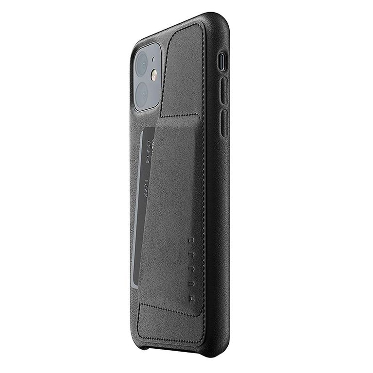 Mujjo Leather Wallet Case For iPhone 11