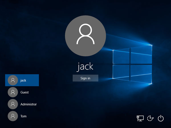 Switch User Account at Windows Startup