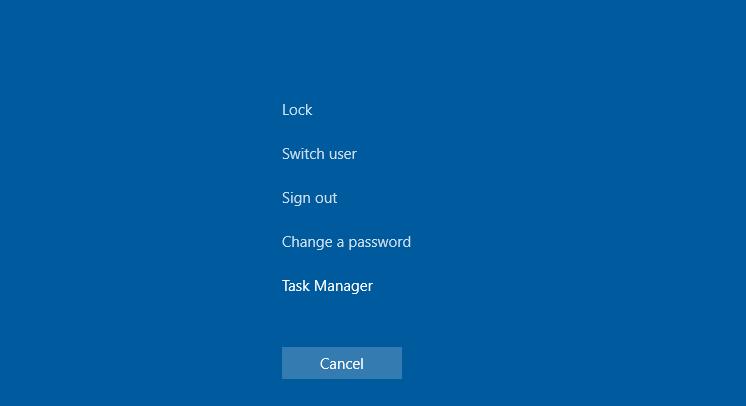 Switch Users in Windows Using CTRL+ALT+Delete