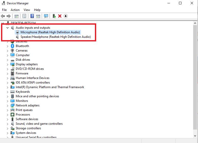 fix internal mic not working Windows 10
