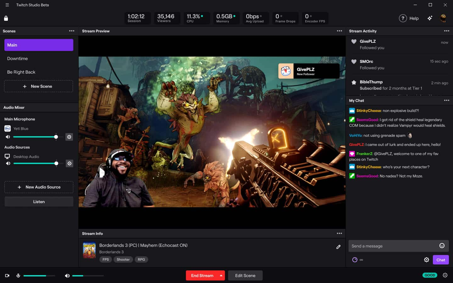 how to go live on twitch